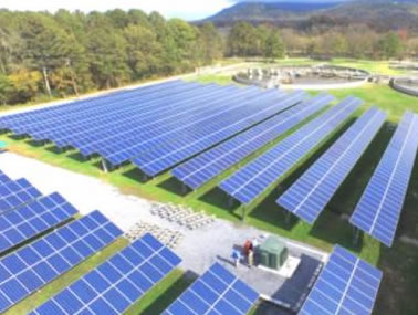 An artist's rendering of what the completed solar farm at Darlington School will look like.